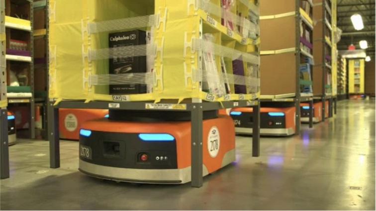Робот-транспортер компании kiva