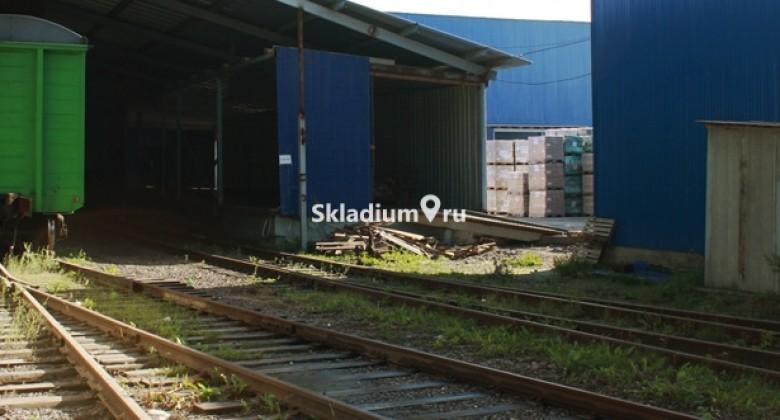 железнодорожная ветка на складе фото Skladium